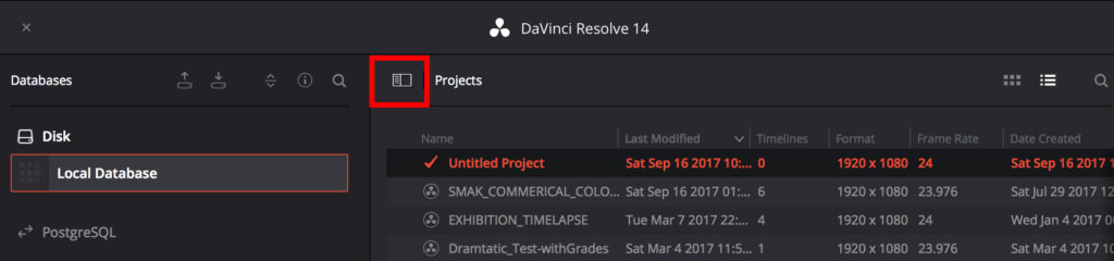 DaVinci Resolve Database